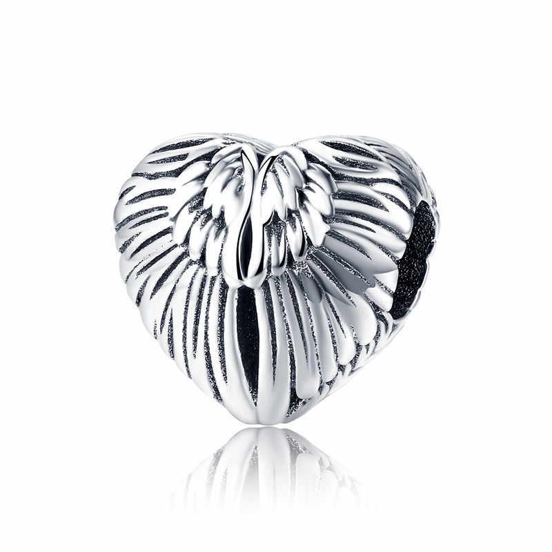 מכירה לוהטת 925 סטרלינג כסף אהבת לב חרוזים Fit מקורי פנדורה צמיד DIY תכשיטים ביצוע לנשים מתנה