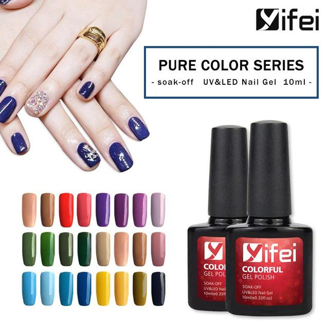 YIFEI 10ML Gel Nail Polish Soak-Off Hybrid Primer Long Lasting LED Gel Varnish For Nails Manicure Need Base Rubber Top Coat