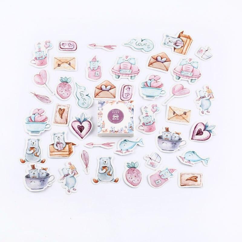 Mr. Бумаги 40 шт./кор. конфеты сказки деко наклейки для дневника Скрапбукинг планировщик японский Kawaii Декоративные Канцелярские наклейки - Цвет: I