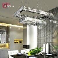 Free Shipping New Lustre De Cristal Light Dinning Room Modern LED Pendant Lamp