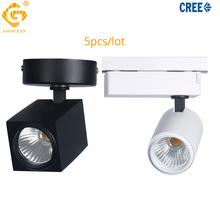 LED Track Light Suqare 12W CREE Ceiling Rail Track Lighting Spot Clothes Store Windows Exhibition Spotlights System Showrooms