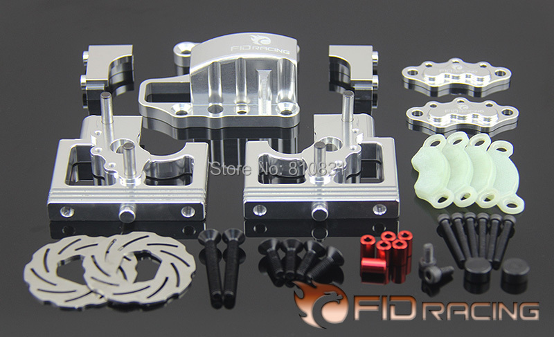 FID center differential assembly system disc edition FOR LOSI DBXL rear hub carriers inclue extenders for losi dbxl