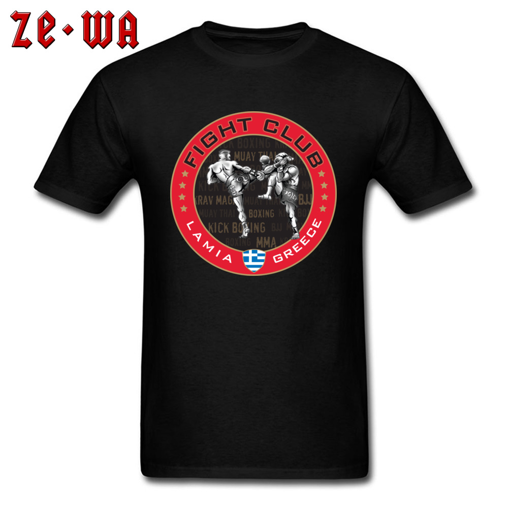 Cool T Shirts Fight Club Lamia Greece Muay Thai Boxer Tshirt For Men Youth Man Leisure Tops T-Shirt Cotton Steetwear Fashion