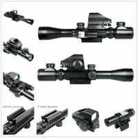 Taktyczne lunety Combo C3-9X40EG Tactical Rifle Scope z holograficzna kropka i czerwony Laser Airsoft strzelanie zakres