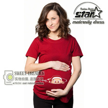 80% Cotton Funny Deign Pregenancy Shirts for Lactating Mothers Clothes Maternity T Shirt Casual Fashion Print Tee Shirt