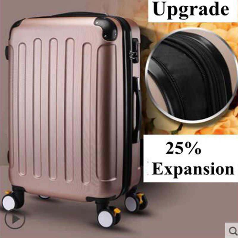 Merk 20 Inch 22 24 Inch Rolling Bagage Koffer Boarding Case Reizen Bagage Case Spinner Gevallen Trolley Koffer Wielen Case