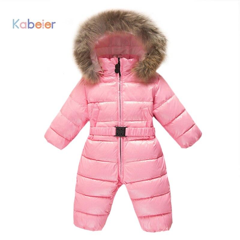 Baby Snowsuit Jumpsuit 0 3t Duck Down Hooded Jacket Infant