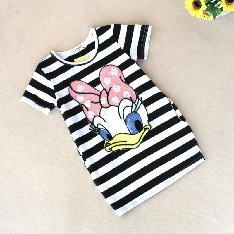 Malayu-Baby-2016-latest-summer-girls-striped-dress-children-cartoon-Donald-Duck-the-two-sides-in-my-pocket-dress-2-7-years-A122-2