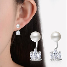 Everoyal Top Quality Silver 925 Earring For Girl Birthday Gift Latest Crystal Crown Female Pearl Earrings Women Accessories