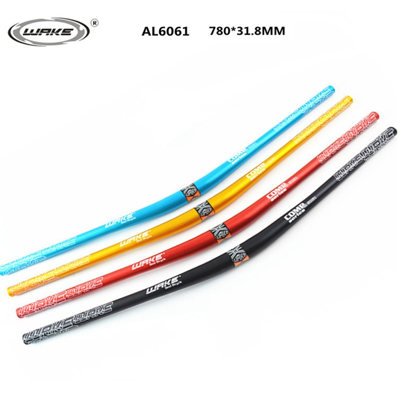 Aluminum Alloy Mountain Bike Handlebar DH Bicycle Handlebar Professional For MTB Hand bar 780MM 31 8MM Black Red Blue Gold in Bicycle Handlebar from Sports Entertainment