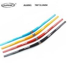 Manillar de bicicleta de montaña de aleación de aluminio DH manillar de bicicleta profesional para Barra de mano MTB 780 MM * 31,8 MM negro, rojo, azul, dorado