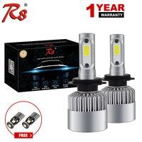 R8 Super bright Auto Car H8 H11 H7 H4 H1 LED Headlights 6500K Cool white 72W 8000LM COB Bulbs Diodes Automobiles Parts Lamp