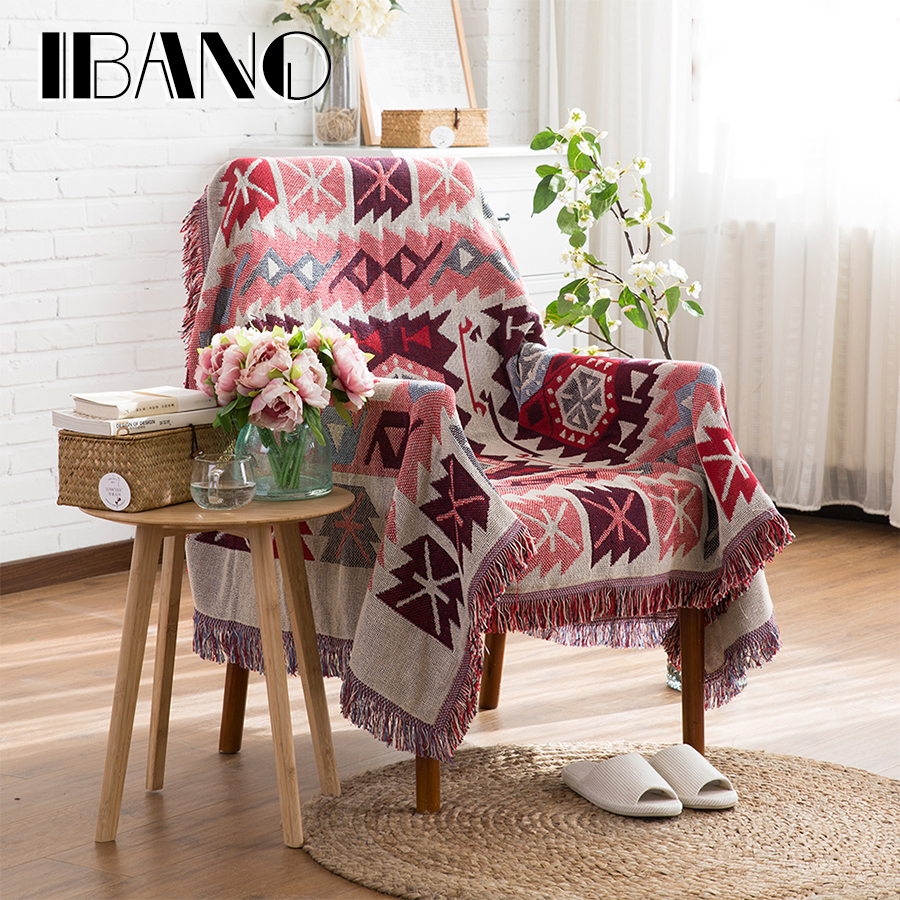 IBANO Cotton Throw Blanket Sofa Cover Thread Blanket Vintage Decorative Carpet Mat/Beach Towel/Tabelcloth/Beed Sheet 230x250CM nordic style cotton thread blanket thicken woven bed spread throw sofa cover blanket free shipping