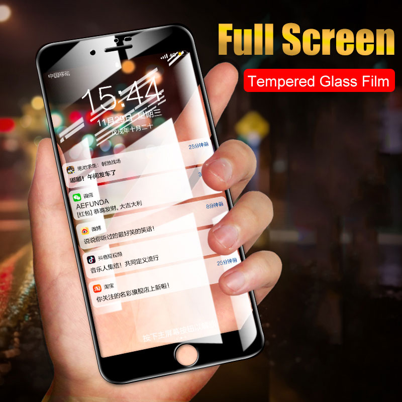 Toughened Curved Edge Tempered Glass For iPhone X XS Max XR 11 Pro 7 8 Plus