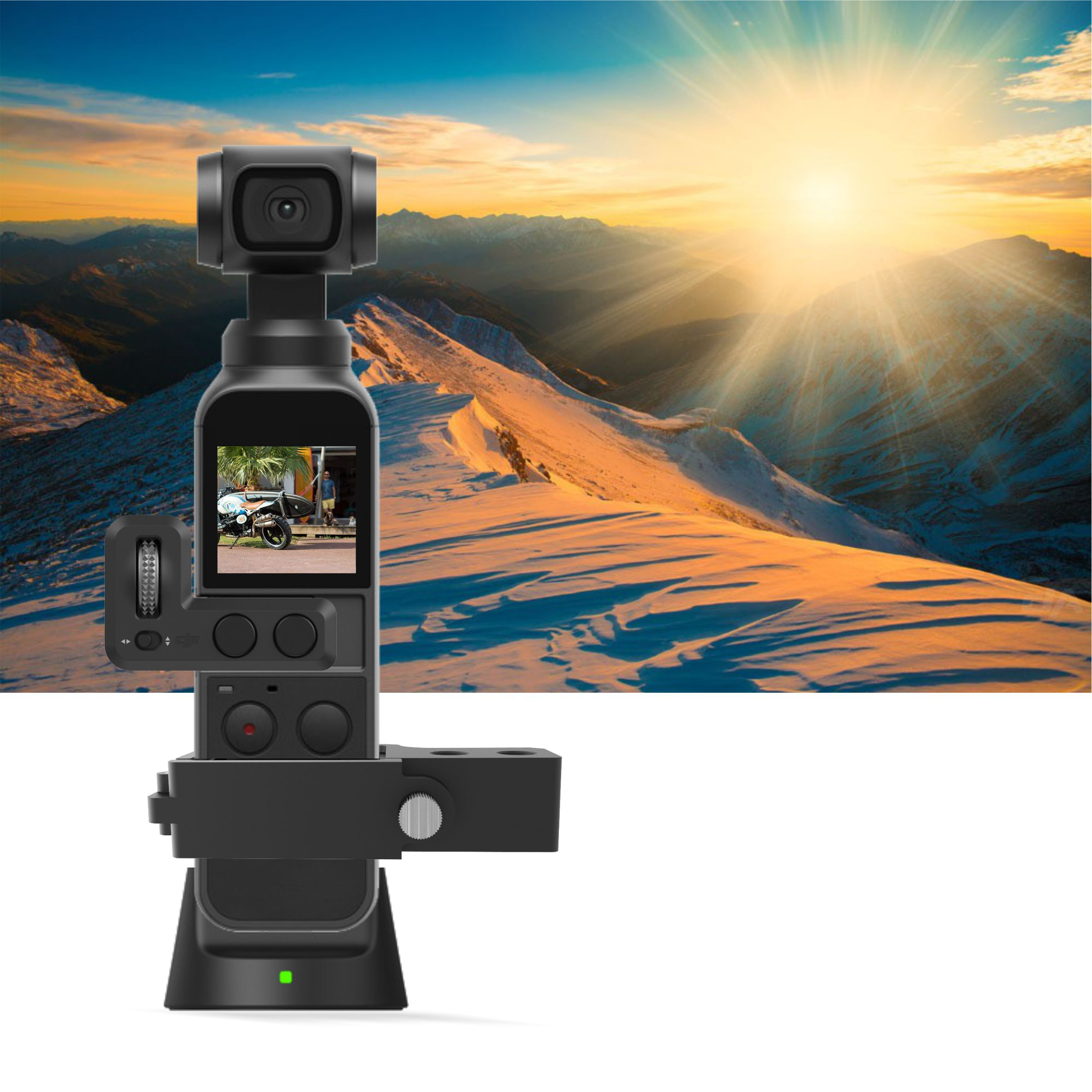 Quick-release DJI Osmo Pocket Gimbal Camera CNC Extension Module Connection DJI OSMO POCKET Expansion Adapter block Accessories 2