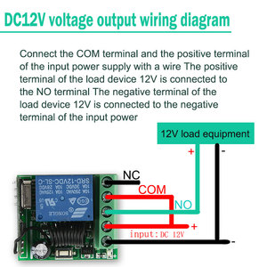 Image 5 - KTNNKG DC12V 원격 릴레이 모듈 무선 조명 제어 스위치 EV1527 범용 433MHz RF 용 스마트 홈 컨트롤러 수신기