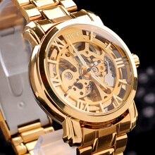 Montre-bracelet Marque MCE unisexe d'or En Acier De Luxe hommes de montre VOGUE Montre AUTOMATIQUE Or Squelette Mécanique montre boîte d'origine