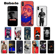 Babaite Rapper Nipsey Hussle Zachte Siliconen TPU Telefoon Cover voor Apple iPhone X XS MAX 8 7 6 6S plus 5 5S SE XR Mobiele Telefoons(China)