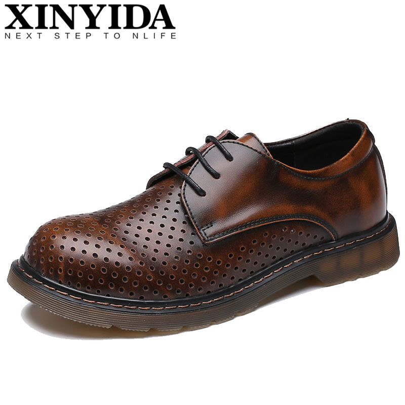 New Arrival Fashion Genuine Leather Martin Shoes British Vintage Men Leather Shoes Men Work Shoes Hombres Zatapos Plus Size35-47