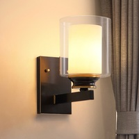 Nordic Design LED Wall Lamp Bedroom Lamps Bathroom Mirror Light Fixtures Glass Arandela Beside Sconce Living RoomArandela