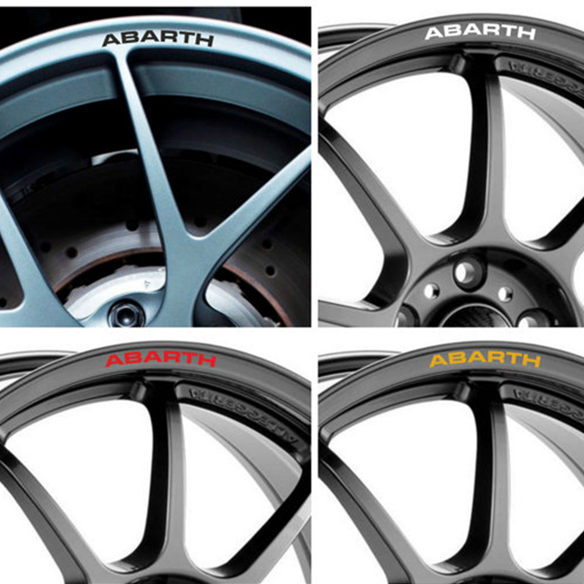 Yongxun 4pcs For Fiat Abarth Rims Alloy Wheel Decals Stickers L 500e 500x 595