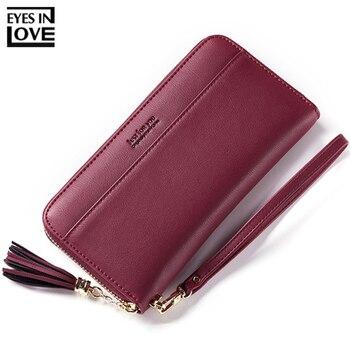 HOT Sale Tassel Wristband Women Wallet Large Capacity Wallets Female Lady Purses Phone Pocket Card Holder Carteras Clutch Purse