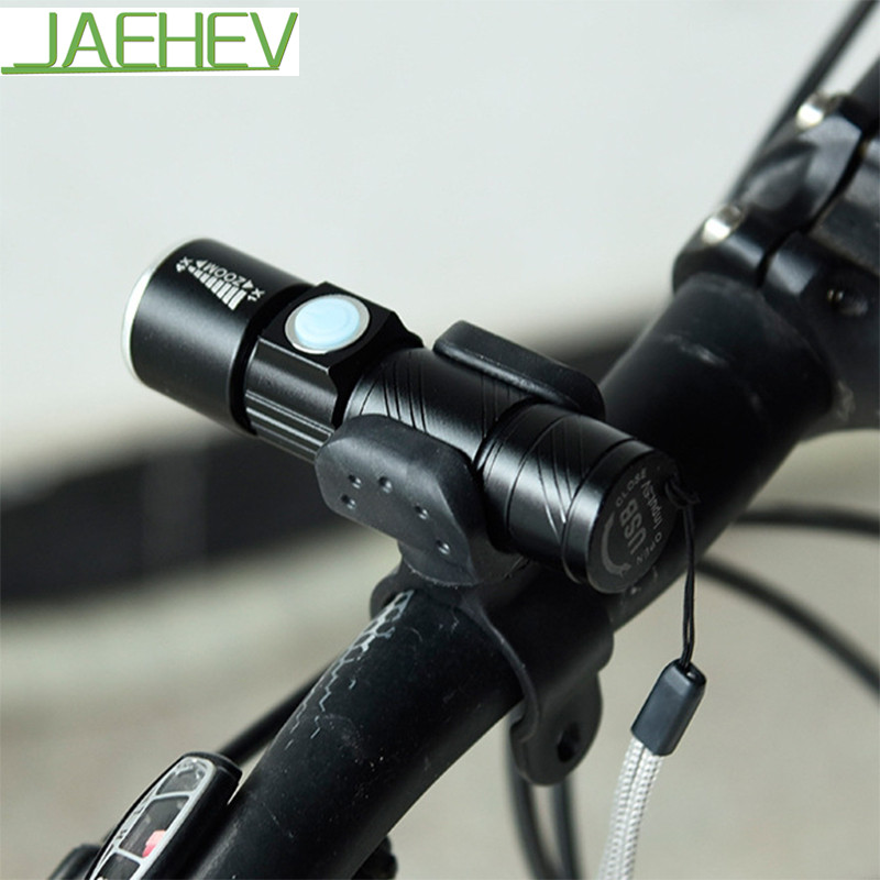 Cyklistická světla Mini USB Dobíjecí Cyklistické LED lampy Bezpečnostní varování Bike Přední svítilna s podporou držáku světla