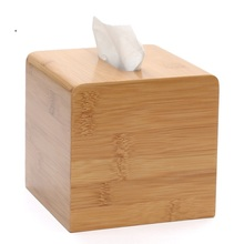 Bamboo square tissue box unique fashion rustic household pumping bucket