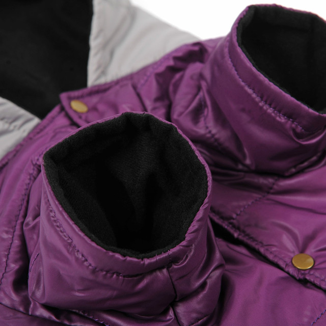 HOOPET Big Dog clothes Purple Warm Cotton-padded Two Feet Clothes Thicken Hoodie coat jacket