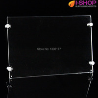 Wall Mounted Acrylic Photo Frame Clear A3 Photo Holders With Screws Sign Holder Horizontal YG 03