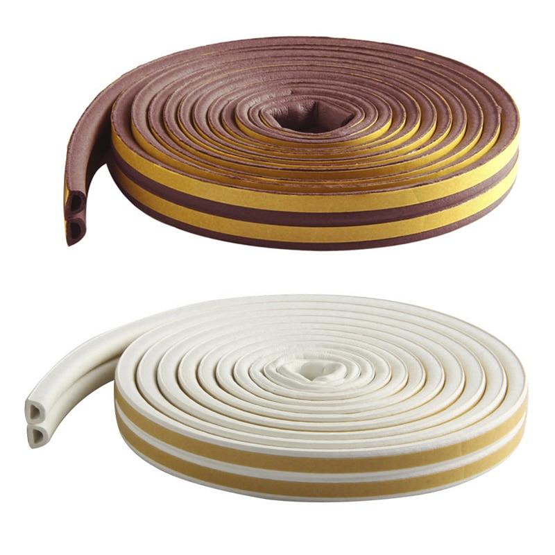 5M Self Adhesive D Type Doors & Windows Foam Seal Strip Soundproofing Collision Avoidance Rubber Seals JS22