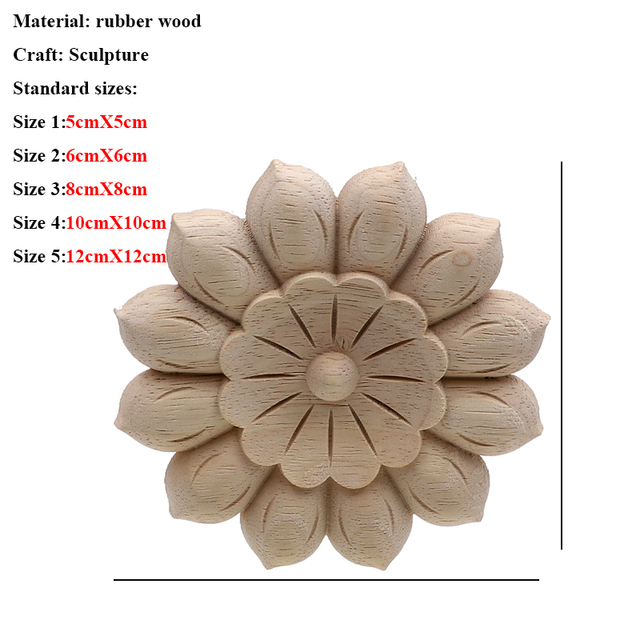 Vintage Unpainted Wood Carved Decal Corner Applique Frame For Home Furniture Wall Cabinet Door Decorative Wooden Miniature Craft 2