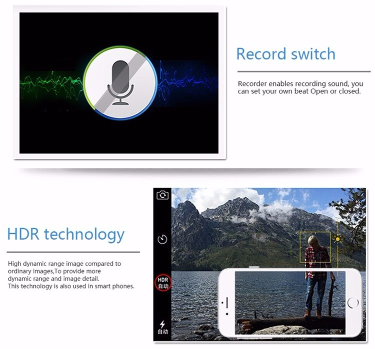 FHD 1080P car camera 4.3-inch Mirror Rearview screen dual lens Car DVR Night Vision rearview mirror auto dvrs Stop Recording 6