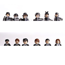hot SWAT military army city super police Building Blocks mini weapons gun figures model brick educational toys for children gift