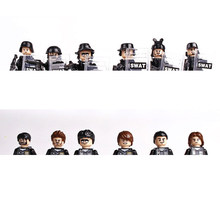 hot SWAT military army city super police Building Blocks mini weapons gun figures model brick educational toys for children gift(China)