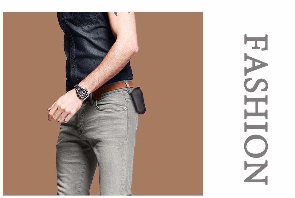 محفظة مفاتيح للرجال من الجلد الطبيعي 21