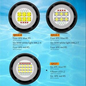 Image 5 - LED dalış el feneri ile 6 XHP70/90 lamba yuvası süper parlak profesyonel sualtı kamera Video ışığı