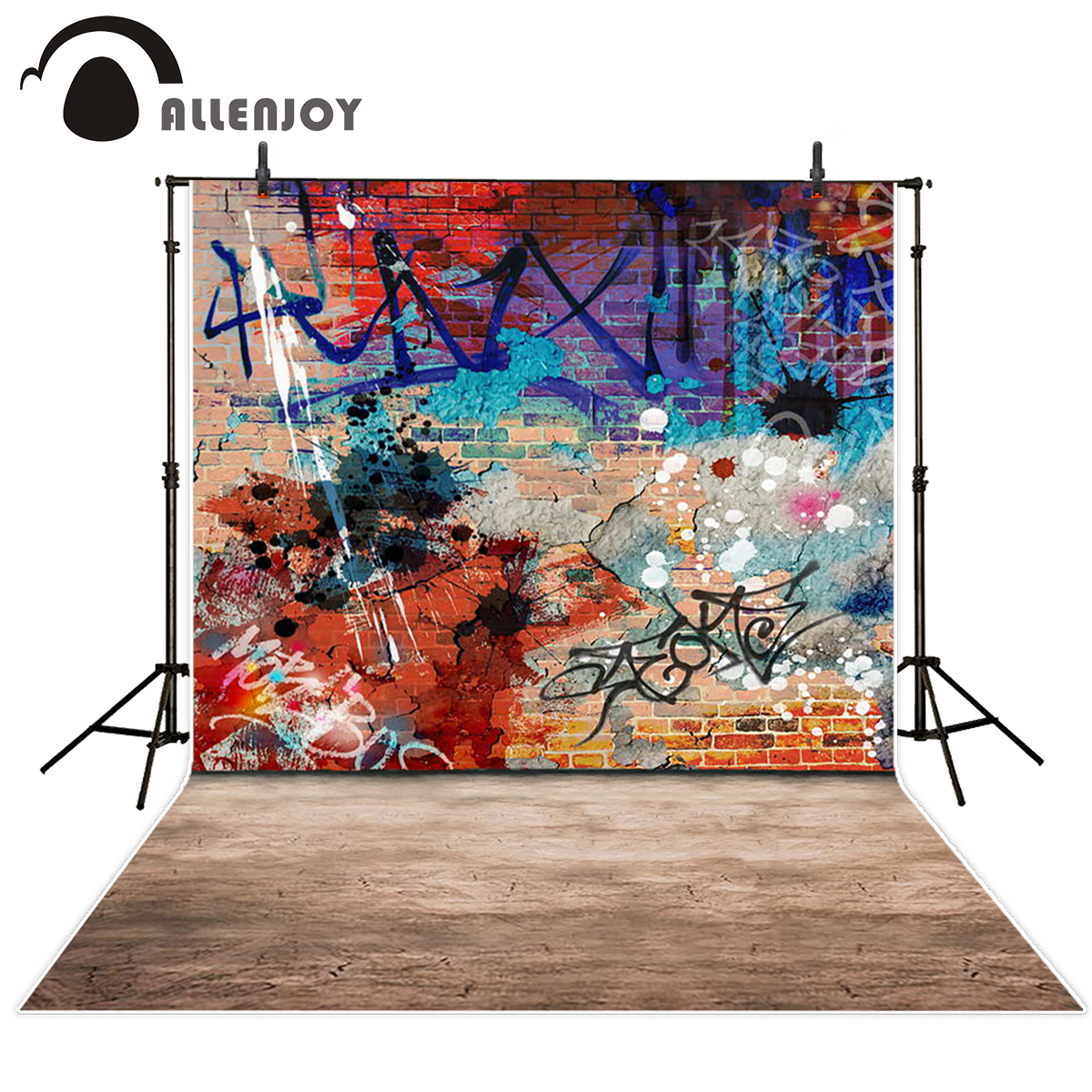 Allenjoy background studio graffiti wall street backdrop photography backgrounds fantasy backdrops excluding bracket
