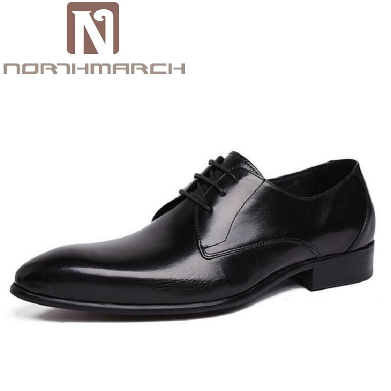 NORTHMARCH Genuine Leather Men Dress Shoes Men Oxfords Shoes Formal Top Quality Pointed Toe Luxury Shoes For Men Mannen SchoenenNORTHMARCH Genuine Leather Men Dress Shoes Men Oxfords Shoes Formal Top Quality Pointed Toe Luxury Shoes For Men Mannen Schoenen