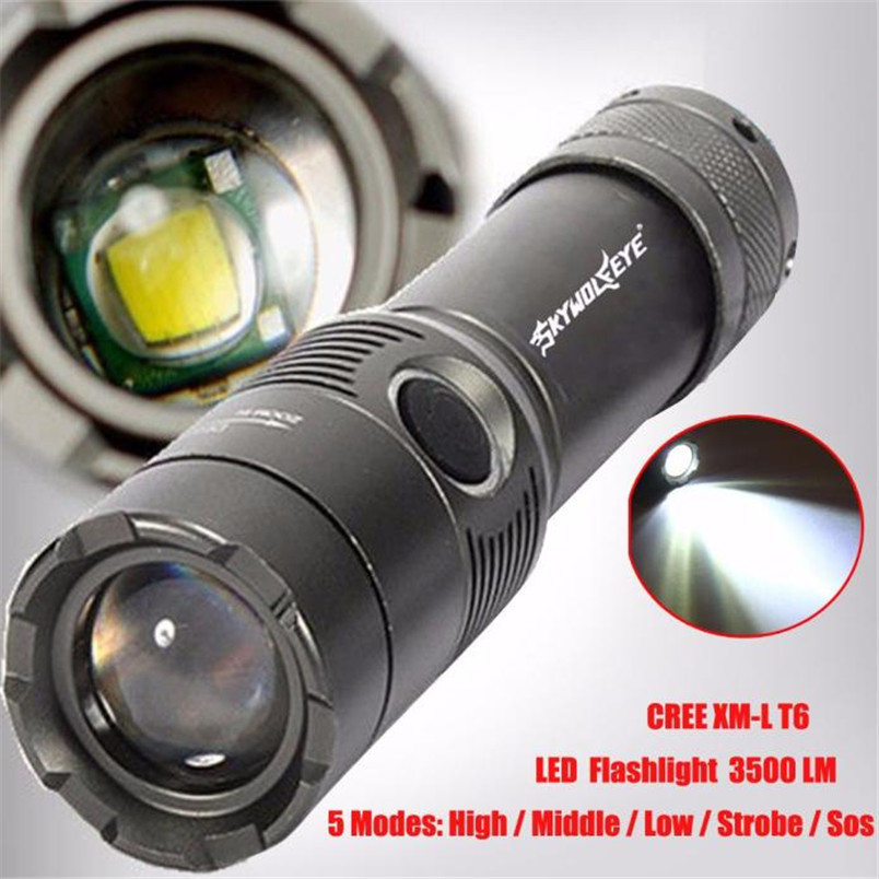 Led Lighting Lights & Lighting Frank 3500lm Cree Xm-l T6 Rechargeable Led Flashlight Torch Aaa/18650 Light Lamp Zoom Focus Wholesales Noj06