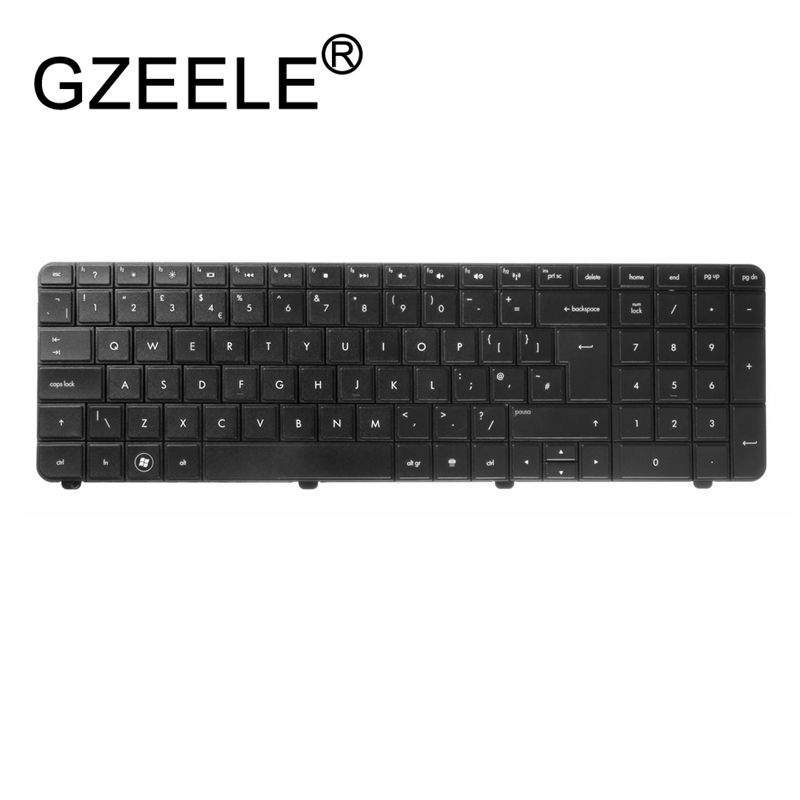 GZEELE UK Keyboard For HP G72 For Compaq Presario CQ72 Series 590086-031 603138-xx Black G72-B66US QWERTY UK English Laptop