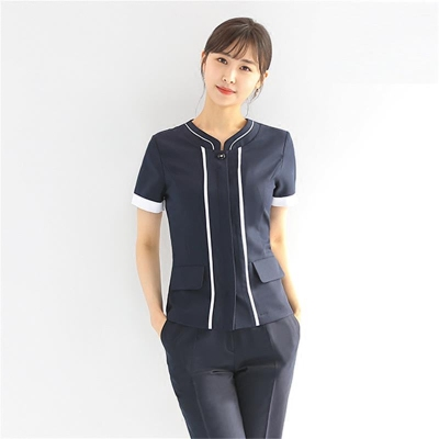 Oral clinic receptionist uniform professional suit spring 2018 new tattoo medical beauty salon work clothes short sleeves