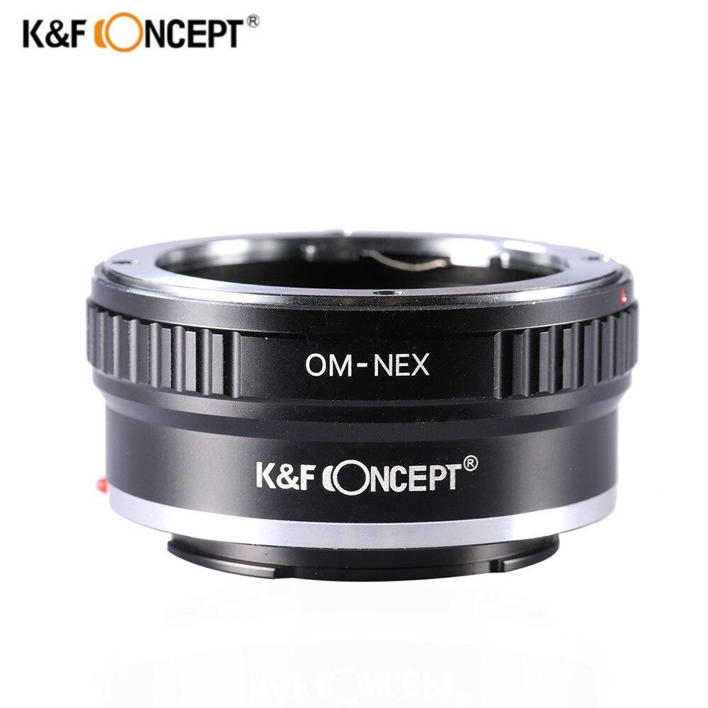 K & F CONCEPT Bague D'adaptation D'objectif pour Olympus OM Lens pour Sony NEX E mont Alpha A5000 7R A3000 A7 A7R A6000 Caméra