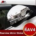Стайлинга автомобилей Зеркало Заднего Вида Наклейки Для Toyota Нержавеющей Стали Зеркало Заднего вида Обложка Для Toyota RAV4 2013-2016 2017 аксессуары