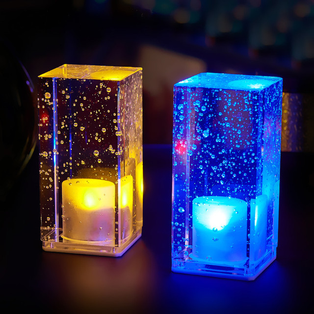 Creative led night light rechargeable color light crystal table creative led night light rechargeable color light crystal table lamp restaurant bar decorative lamp indoor mozeypictures Image collections