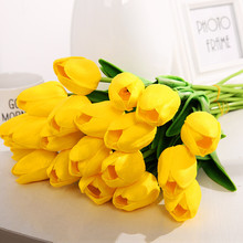 Wedding Bouquet Artificial-Flowers-Accessories Yellow Tulip Home-Decoration Handmade