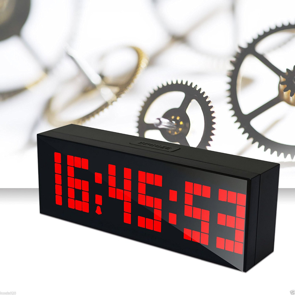 Big Jumbo Digital LED Walll Clock Pantalla grande Reloj de decoración de pared, Mesa multifunción Calendario Despertador