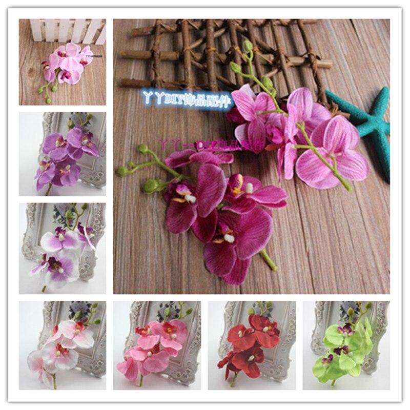 1 unids artificial flores orquídea mariposa butterfly orchid para nueva casa cas