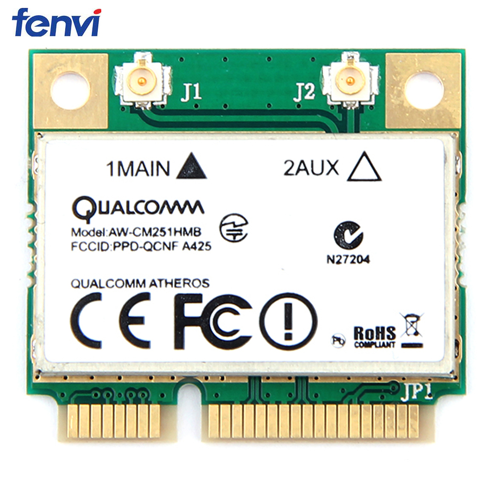 Wireless-AC Dual Band For Qualcomm Atheros QCA9377 AW-CM251HMB Mini PCI-E Wifi Card 433Mbps BT4 1 802 11ac Better For Intel 3160