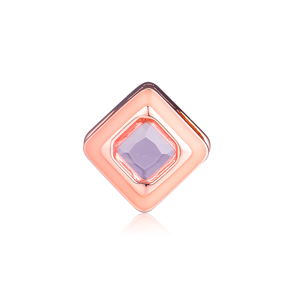 Original Beads Sparkling Pink Square Clip Charms 925 Sterling Silver Fits Reflexions Bracelets Beads for Jewelry Making kralenOriginal Beads Sparkling Pink Square Clip Charms 925 Sterling Silver Fits Reflexions Bracelets Beads for Jewelry Making kralen